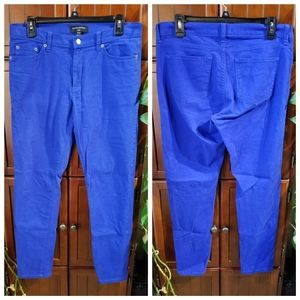 Banana Republic Brand Royal Blue Skinny Jeans